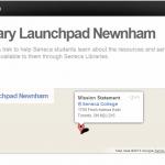 Library launchpad:  SCVNGR treks at Seneca
