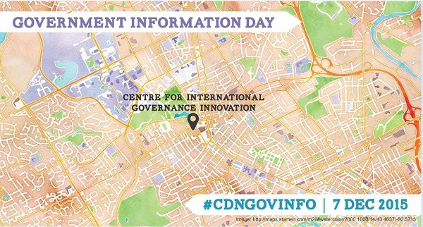 Government Information Day in Ontario 2015, which took place at the Centre for International Governance Information on December 7, 2015.