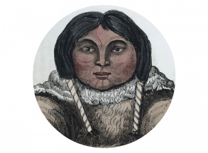 Artistic representation of an Inuit woman from a 19th-century source.