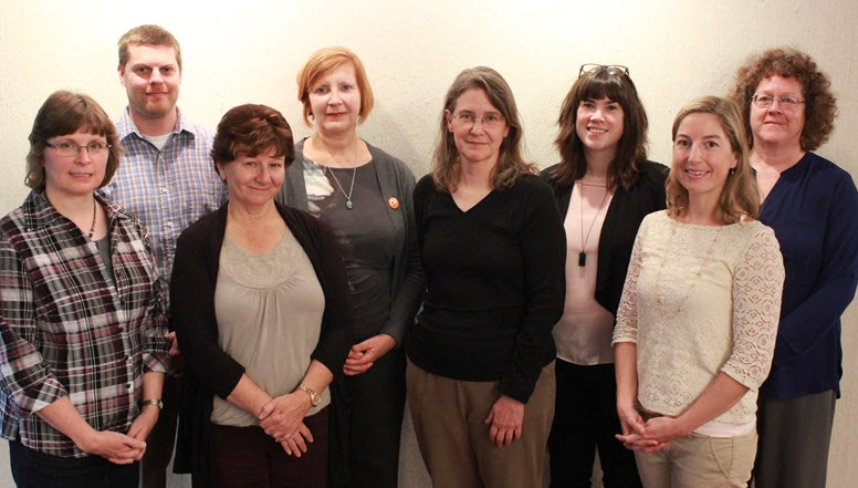 Brock University's Personal Librarian team (from left): Linda Lowry, John Dingle, Marcie Jacklin, Elizabeth Yates, Heather Whipple, Colleen MacKinnon, Justine Cotton, Karen Bordonaro. (Not pictured: Jennifer Thiessen)