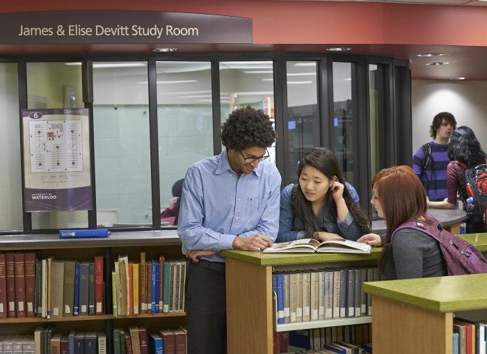Waterloo students look forward to spending time in the new group study room located in the recently renovated Dana Porter Library.