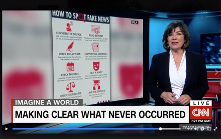 Fake news broadcast on CNN
