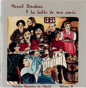 "Couverture du CD ""À la table de mes amis"" de Marcel Barbeau"