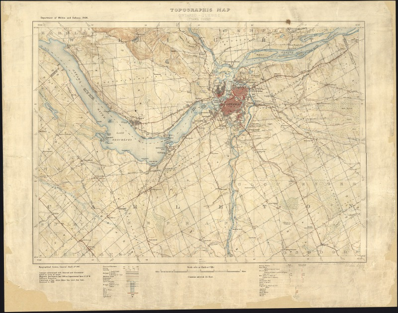 Ontario Topographic Map.The Ontario Historical Topographic Map Digitization Project Past