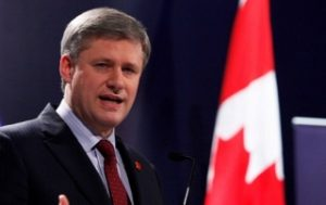 Stephen Harper and Flag