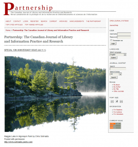 Homepage of The Partnership Journal