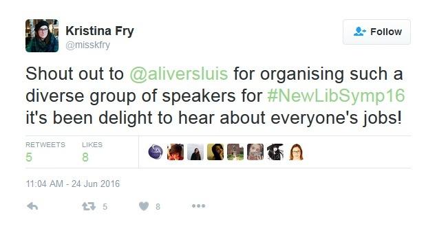 Tweet re diverse speakers