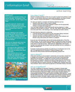 Screenshot of the Information Brief on Active Learning.